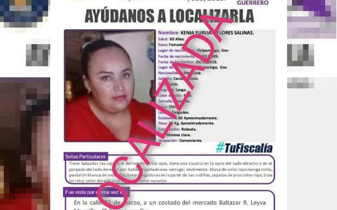 Localizan a mujer luego de diez días desaparecida; en Chilpancingo - El Sol de Acapulco